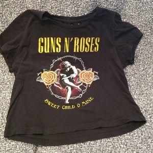 Bravado Tops - Guns N' Roses crop tee